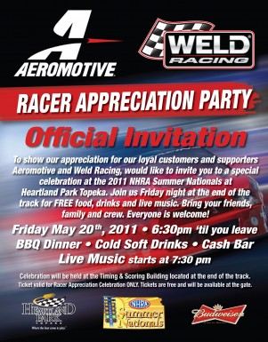 join us for a party at heartland park topeka this friday night aeromotive. Black Bedroom Furniture Sets. Home Design Ideas