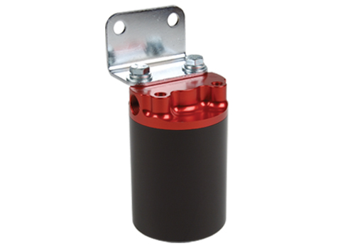 100 Micron, Red/Black Canister Fuel Filter