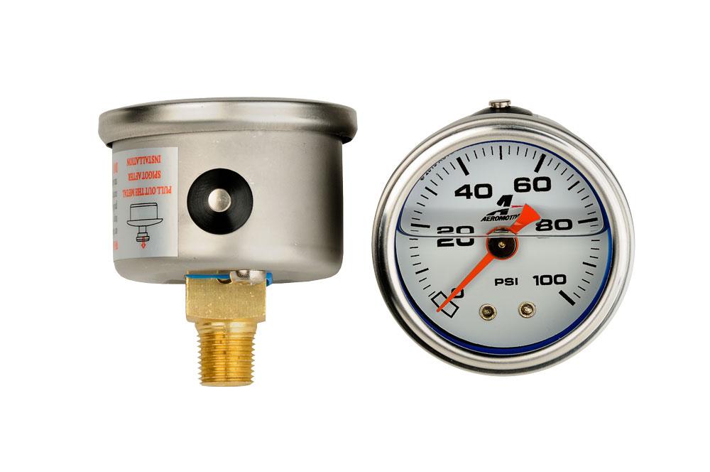 0-100 psi Fuel Pressure gauge