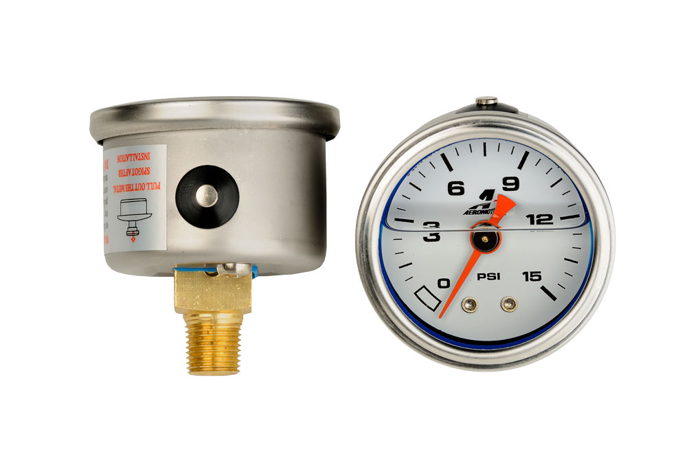 0-15 psi Fuel Pressure Gauge