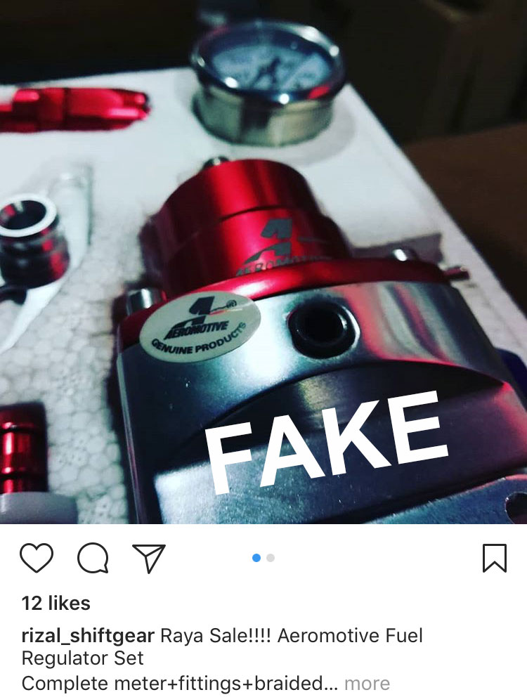 Is it Genuine Aeromotive? Counterfeits and Fakes