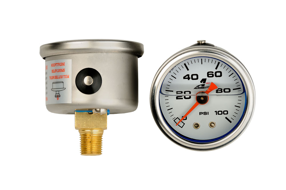Psi fuel pressure gauge aeromotive inc
