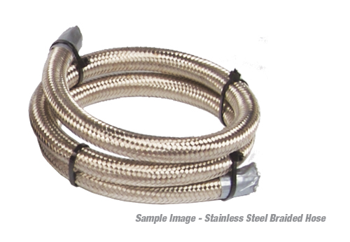 Chrome Stainless Braided Line : ′ an stainless steel braided line aeromotive inc
