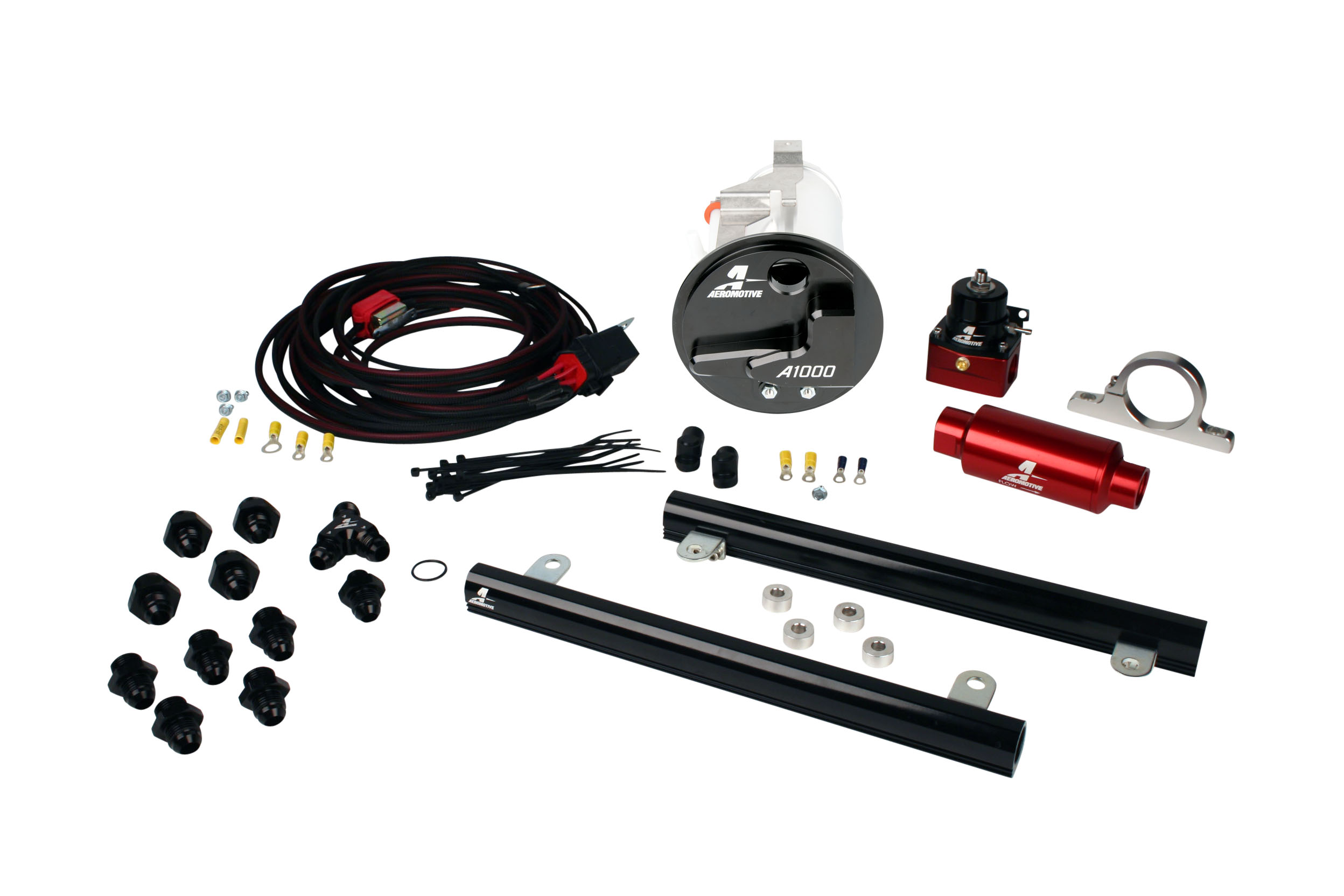 05 09 Mustang Gt Stealth A1000 Race Fuel System With 54l Cj 03 Filter Rails