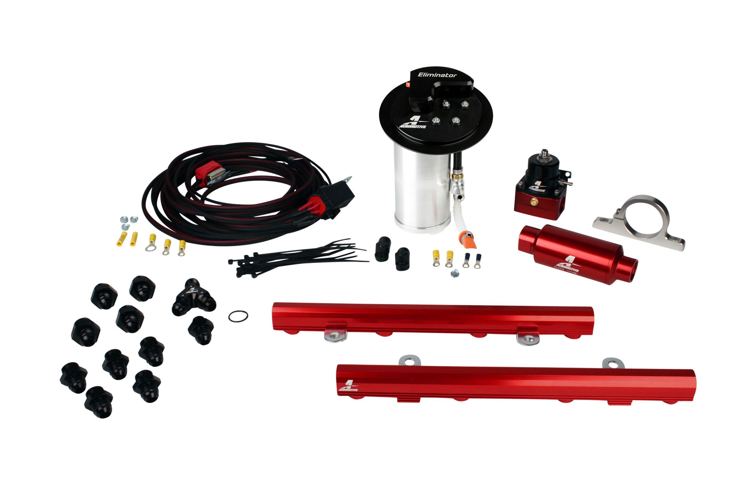 10 17 Mustang Gt Stealth Eliminator Race System With 50l 4 V Fuel 03 Filter Rails