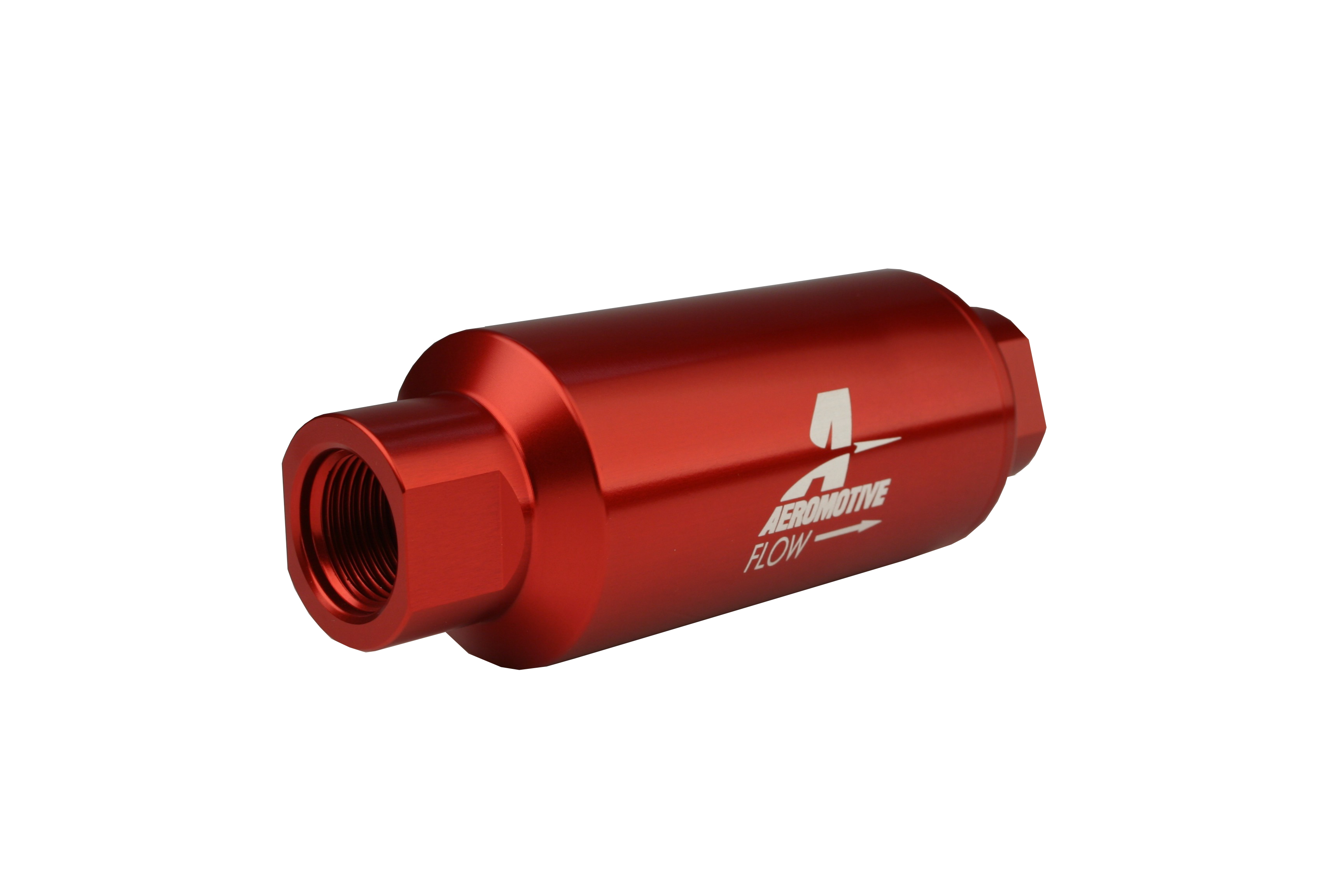 40 Micron Orb 10 Red Fuel Filter Aeromotive Inc 06 Mustang Location