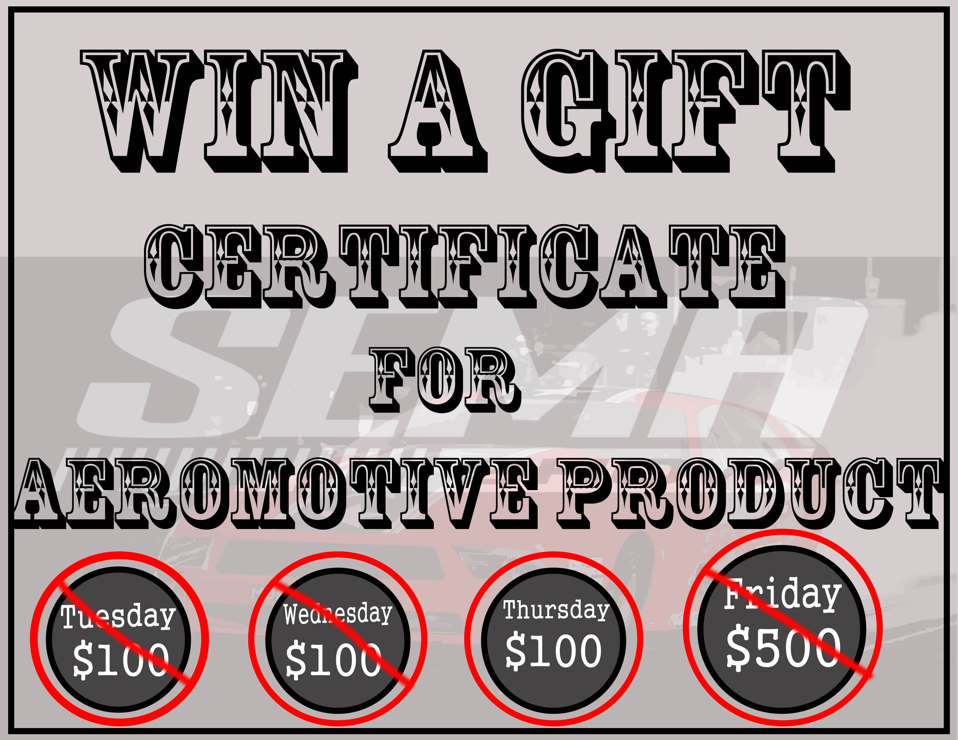 SEMA Thursday Giveaway picture